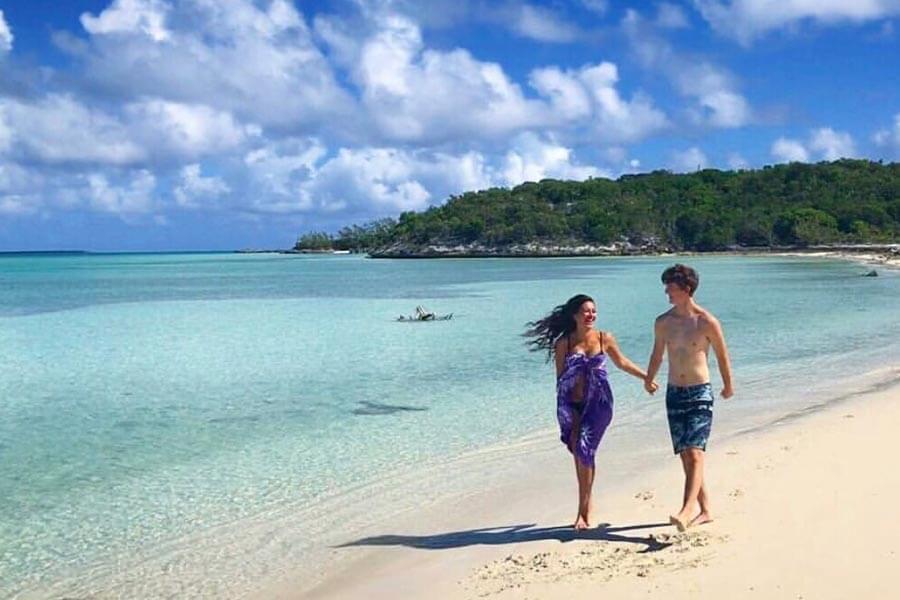 walking-on-the-beach-exuma-bahamas